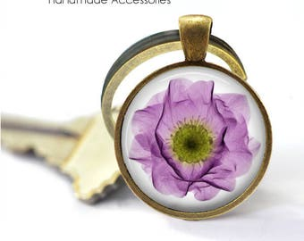 Purple Poppy Key Ring • X-Ray of a Poppy • Poppy X-Ray • Flower • Radiologist • Radiology • Gift Under 20 • Made in Australia (K541)