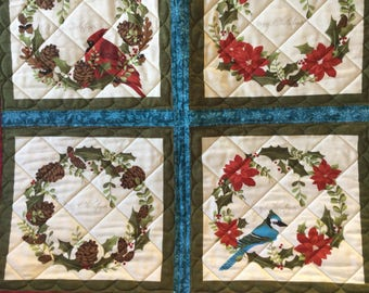 Beautiful handmade Christmas quilted panel