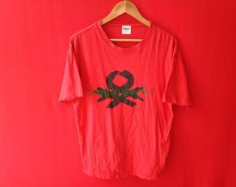 vintage benetton formula large mens t shirt