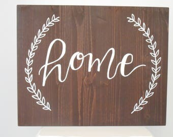 Home Sign, Rustic Wood Sign