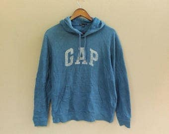 vintage 90s gap hoodie sweatshirt ellesse sweatshirt big logo ellesse jumper