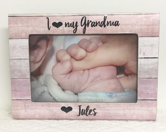 Grandma frame, personalized frame, gift for grandma, i love my grandma frame, nana frame, yaya frame