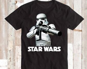 Storm Trooper Tee Tees T-Shirt Star Wars Strom Trooper Custom Shirt and Onesie Stormtrooper Star Wars Birthday Shirt Unique Trooper, bb35