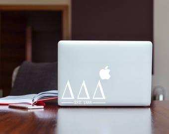 Delta Delta Delta (Tri Delta) Sorority Macbook Sticker