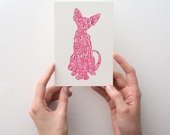 Tender Gary greetings card, Bob Mortimer's Twitter cat names, donation to Cat's Protection UK for every sale