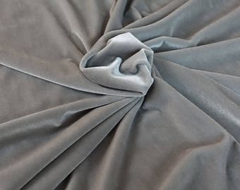 gray 4-way Stretch Velour Free shipping!