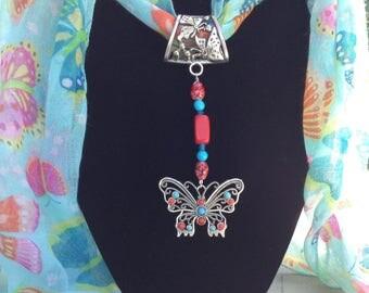 Delicate Butterfly Scarf Jewel
