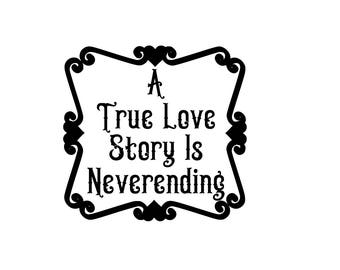 A true love story SVG