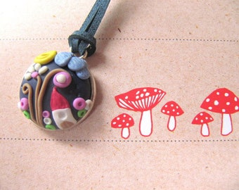necklace,polymer clay,gift, gift idea, gift for girls,fimo,pendant
