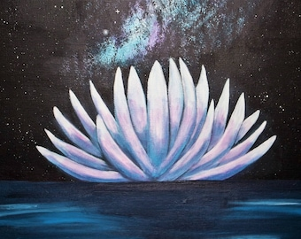 """""""Water Lily II"""" canvas 40 x 80 cm"""