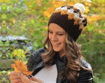 SALE Winter Pom Pom Beanie Pom Pom Hat Womens Winter Hat with Pom Pom Crochet Hat for Women Pompom Hat Pom Pom Beanie