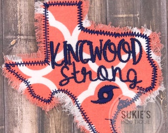 Kingwood Stong All Profits are being donated  Iron on Patch Texas patch, hurrican harvery,