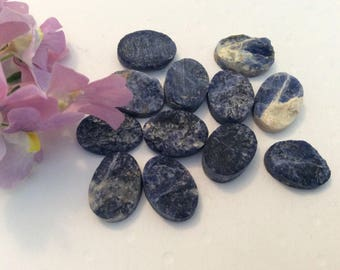 Vintage Sodalite cabochons 14x10 pack of 6