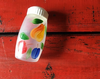 Vintage Hand Painted Salt/Pepper Glass Shaker