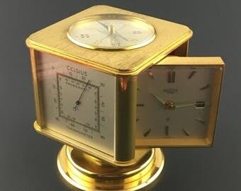 Vintage Angelus Meteo Clock Weather Station Compendium