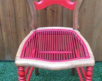 Vintage Chair, seat, violet