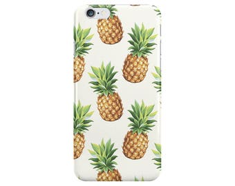 Pineapple Food White Summer Phone Case Cover for Apple iPhone 5 6 6s 7 8 Plus & Samsung Galaxy S6 S7 S8 Plus