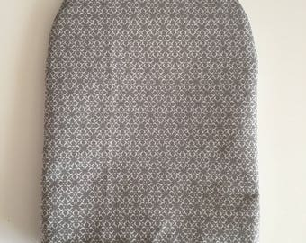 Ready to ship, ostomy bag cover , grey pattern, solid grey on the back