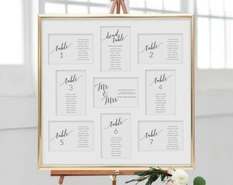 Navy Wedding Seating Chart, Wedding Seating Chart Template, Wedding Seating Cards, Printable Seating Cards, Printable Seating Chart Wedding