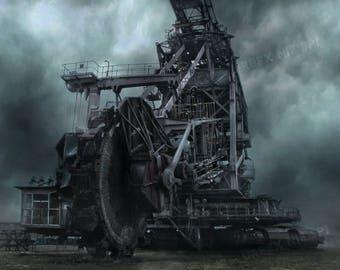 URBEX - Abandoned Excavator - Abandoned-Urban Exploration-Urbex Photography - Industrial