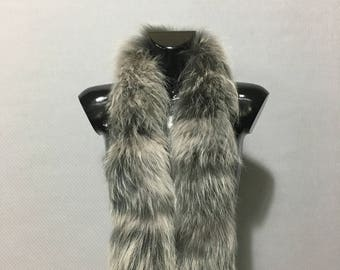 Beautiful Real Snowtap Fox Fur Small Collar