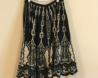 Vintage Ethnic Circle Skirt