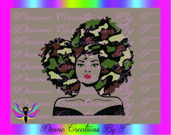 Camo Diva Outline  (SVG,DXF,EPS)On Clearance