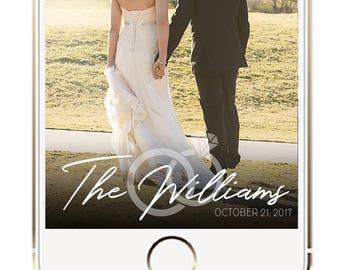 Simple Minimalist Wedding Snapchat Geofilter, Wedding Snapchat Filter, Wedding Filter, Snapchat Geofilters, Wedding Geotag, Simple Geofilter