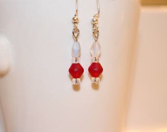 Lovely Red Dangle Earrings