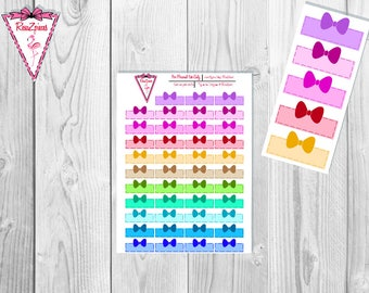 Printable Light Bow Boxes - Functional Stickers w/Cut Line