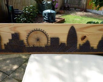 London Skyline String Art