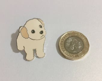 Poodle pin - dog lover gift - dog pin - cute enamel pin - puppy enamel pin - dog paw