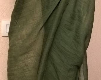 Olive green color pure cotton pareo