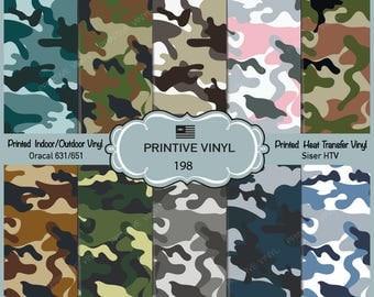 Military Camouflage collection Pattern Printed Vinyl/Siser HTV/ Oracal/ Indoor Vinyl/ Outdoor Vinyl/ Heat Transfer Vinyl- 198