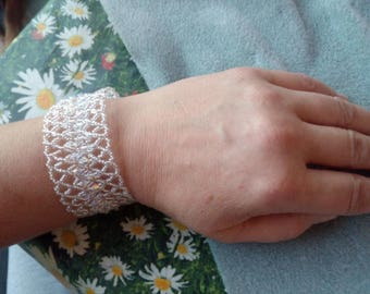 Silver bracelet, bracelet with Swarovski bicone, bracelet, Bangle, bracelet for her wedding x wedding, lace