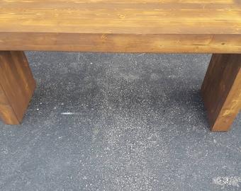 Modern Rustic Bench