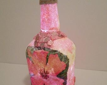 Hibiscus Splendor LED Bottle Light