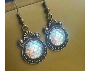 Vintage mermaid earrings