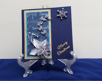 Quilled Christmas Card, Boxed Christmas Card, Special Christmas Card, 3D Christmas Card