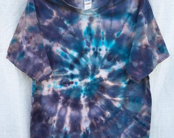 Adult size extra large tie dye tee/tie dye/ice dye/hand dyed/tshirt
