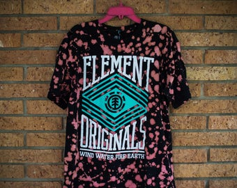 Bleached and Dyed Element Brand T-Shirt