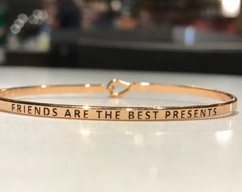 Inspired bangle ( friend are the  best represent )