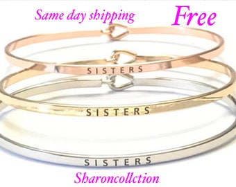 Inspired bangle bracelet (gold , rose gold , silver )