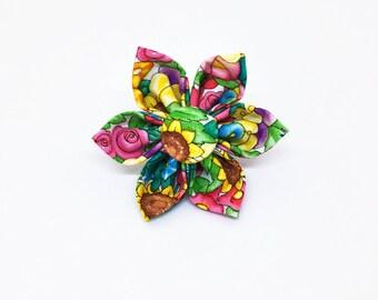 Dog Collar Flower - Fabric Collar Flower - Floral Collar Flower