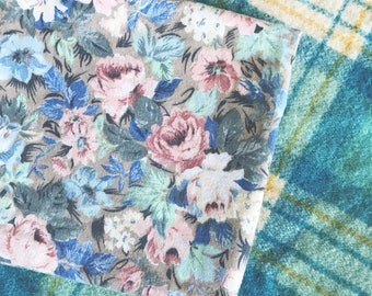Vintage floral pillowcase