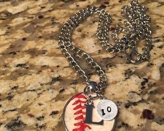 Custom Baseball Pendant Necklace