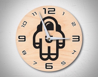 nasa wall clock, astronaut clock, space clock, modern clock, unique wall clock, star clock, 1st gift, wedding gift clock, wooden clocks, mom