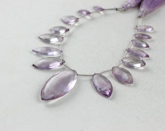 AAA+ Quality 1 Strand Natural Pink Amethyst Marquise Shape Faceted Size 7x16-17x40mm Approx,Amethyst Bead,Natural Amethyst,Marquise Amethyst