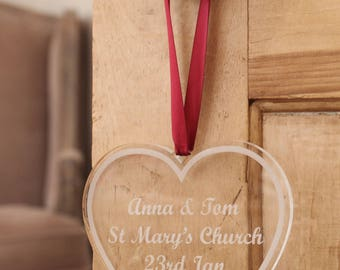Personalised Glass Effect Heart