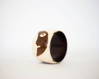 Cow horn bracelet